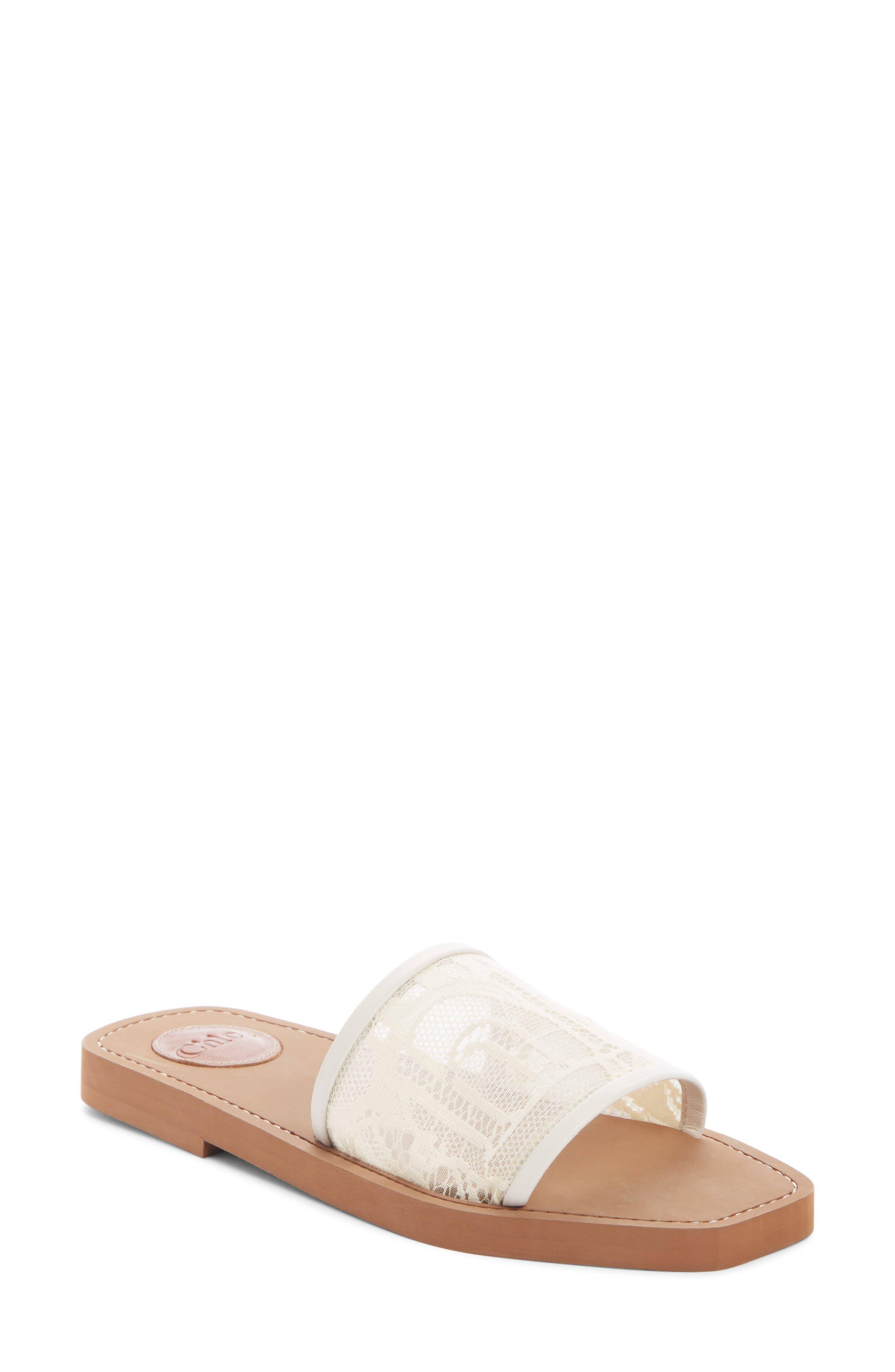 Chloé Lace Slide Sandal (Women) | Nordstrom