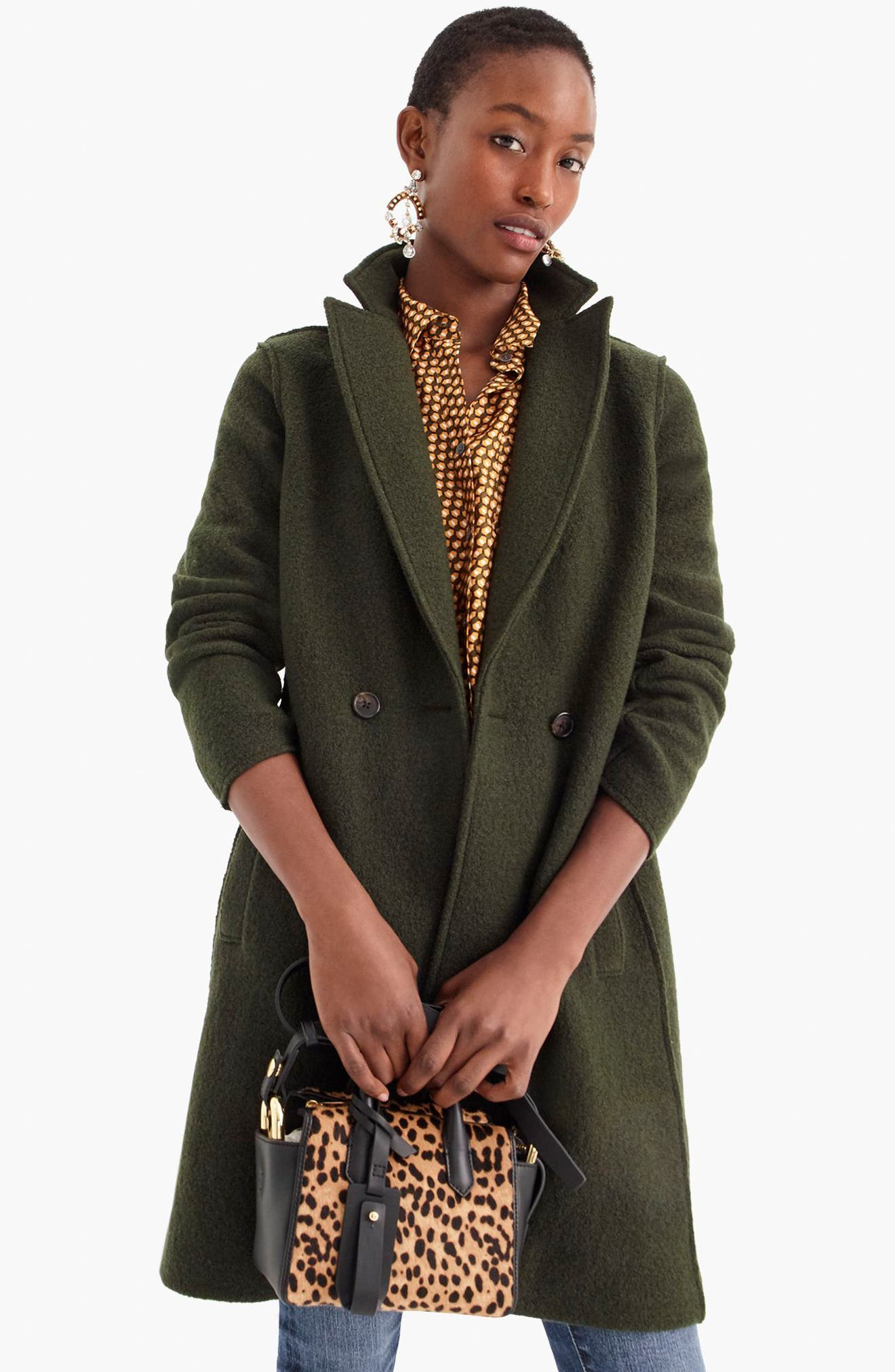 ,                             Daphne Boiled Wool Topcoat,                             Alternate thumbnail 7, color,                             301