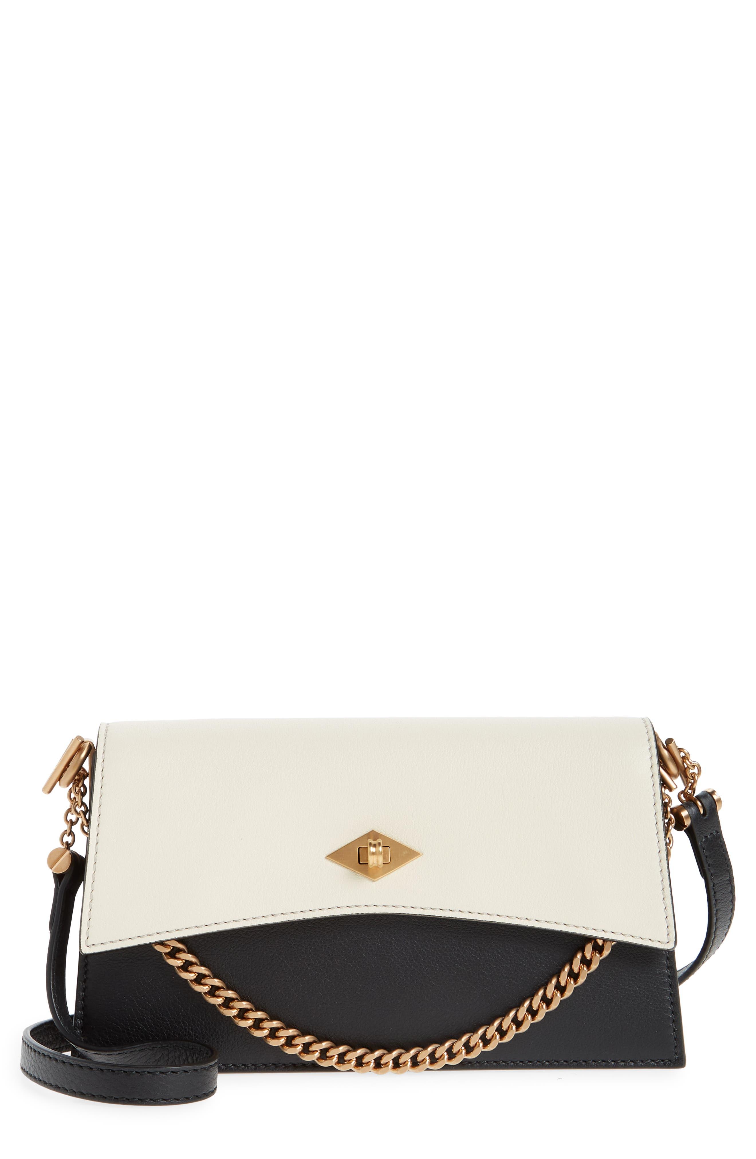 Mini Roma Colorblock Leather Crossbody Bag