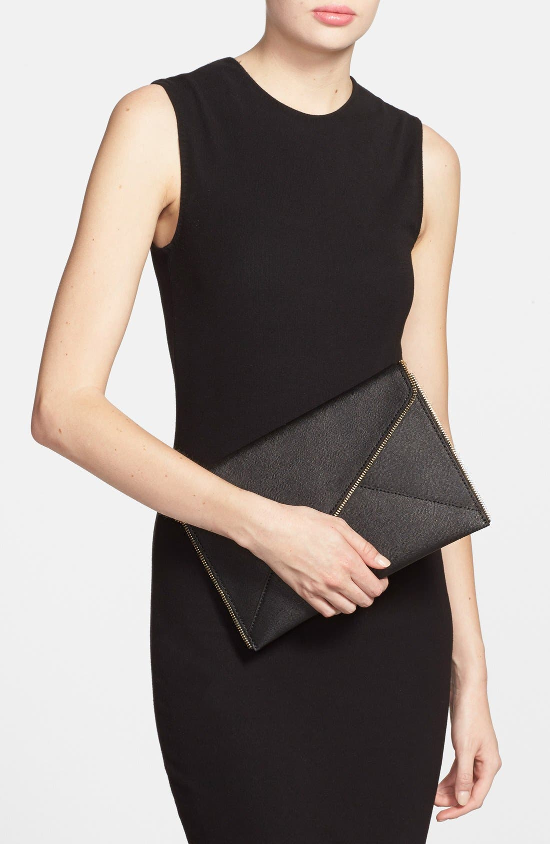 ,                             Leo Envelope Clutch,                             Alternate thumbnail 88, color,                             001