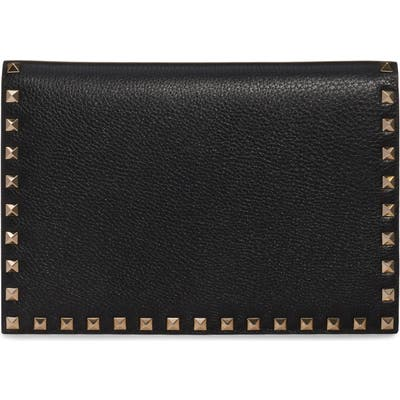 Valentino Garavani Medium Rockstud Leather Pouch - Purple