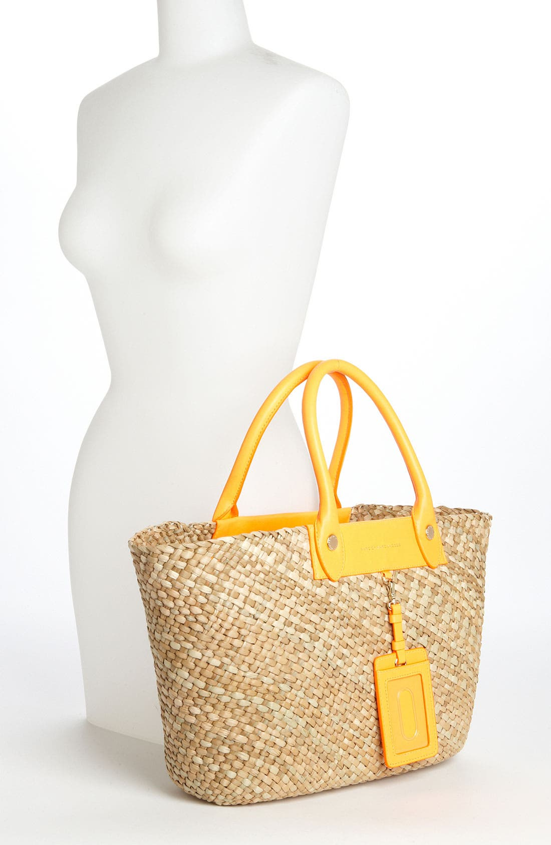 ,                             MARC BY MARC JACOBS 'Preppy' Straw Tote,                             Alternate thumbnail 3, color,                             825
