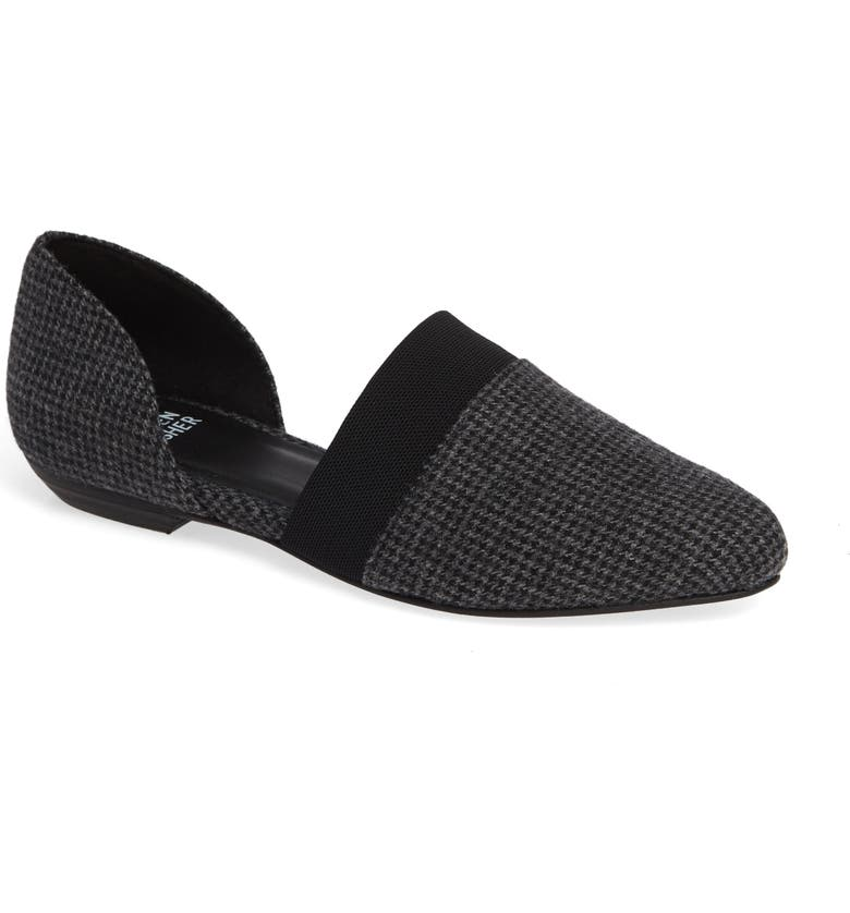 EILEEN FISHER Flute Pointy Toe Flat, Main, color, 002