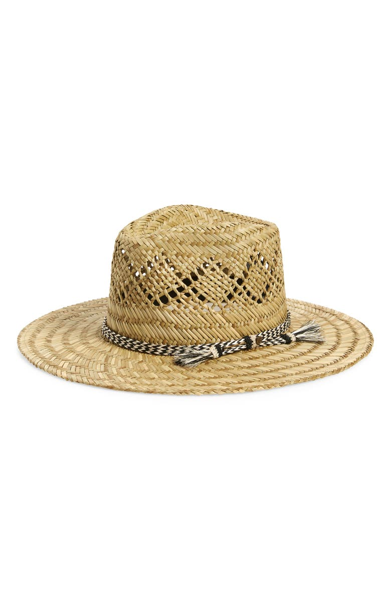 BRIXTON Brayden Straw Fedora, Main, color, 200