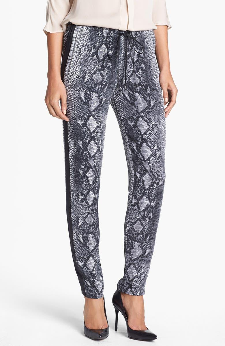 REBECCA TAYLOR Drawstring Silk Pants, Main, color, 020