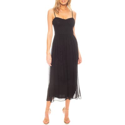 Katie May Daisy Clip Dot Cocktail Dress, Black