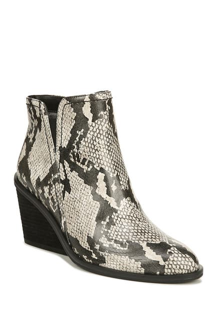 Image of Dr. Scholl's Morgan Embossed Snake Skin Print Wedge Bootie
