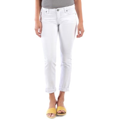Kut From The Kloth Catherine Boyfriend Jeans, White