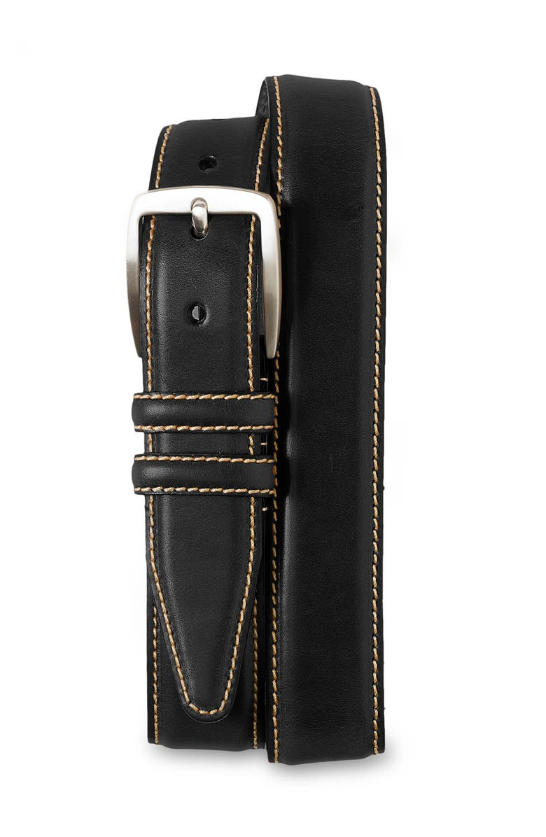 ALLEN EDMONDS 'Yukon' Leather Belt, Main, color, 001