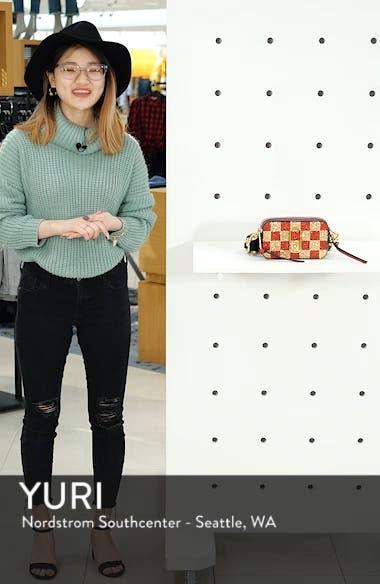 Snapshot Glitter Checkerboard Crossbody Bag, sales video thumbnail