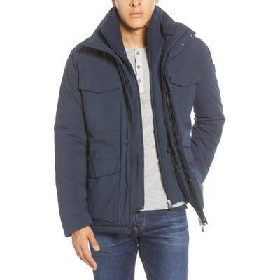 Save The Duck Field Jacket With Removable Bib, Blue