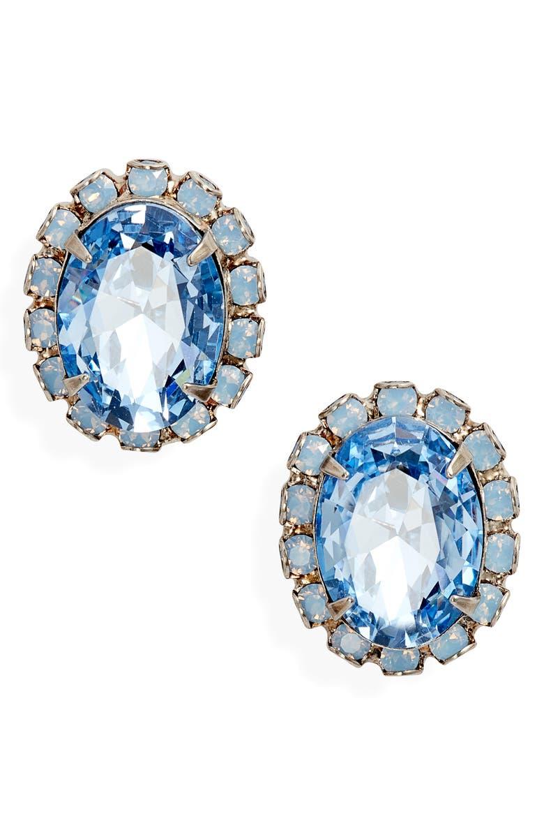 SORRELLI Chain Adorned Crystal Earrings, Main, color, 400