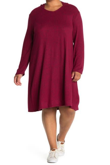 Image of TASH + SOPHIE Marled Knit Hoodie Dress