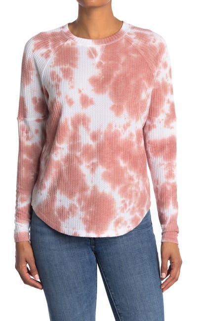 Image of Sweet Romeo Tie Dye Thermal Thumbhole Shirt
