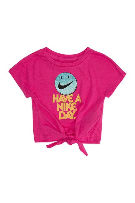 Image of Nike 'Have A Nike Day' Tie Front T-Shirt