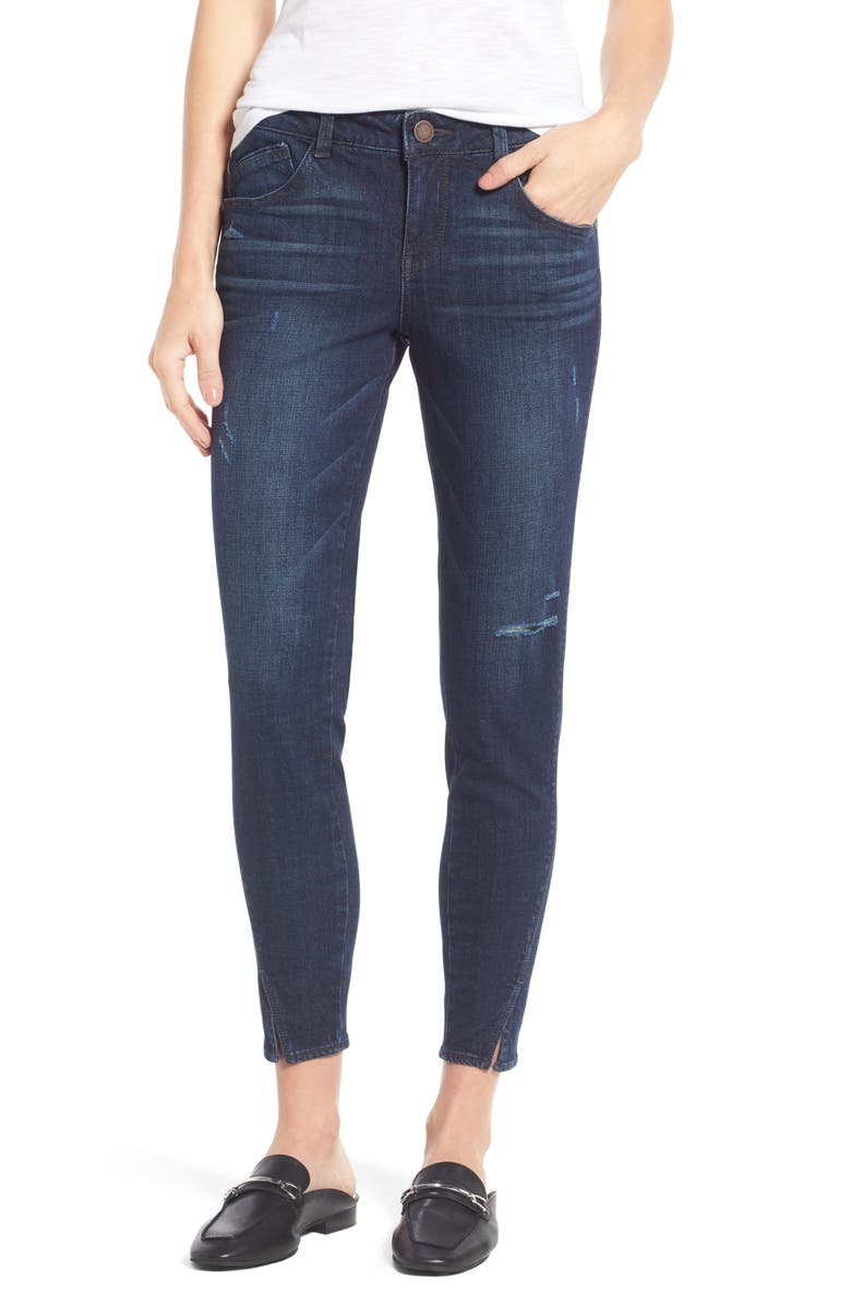 WIT & WISDOM Twisted Seam Ankle Skimmer Jeans, Main, color, 402