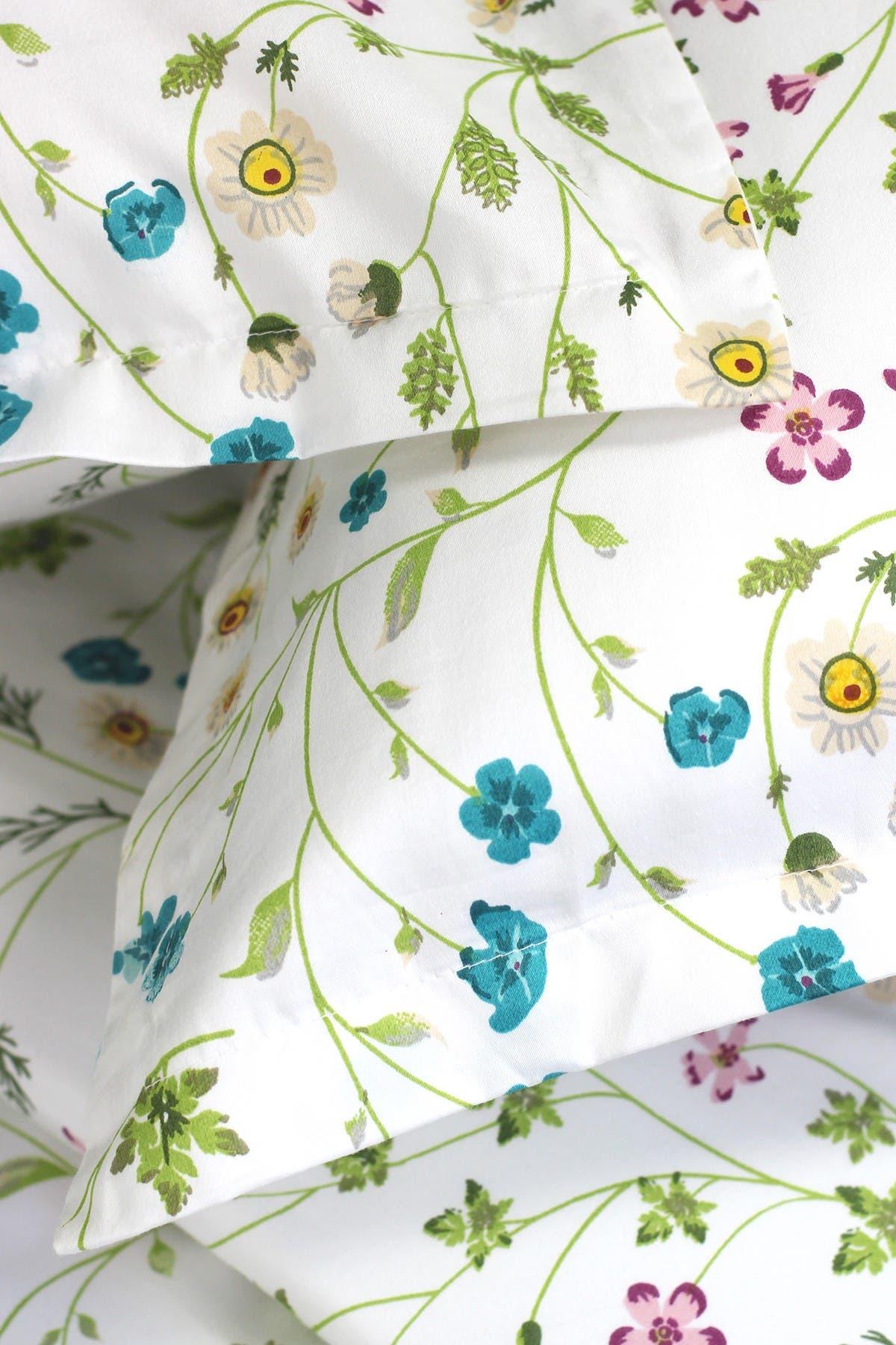 Image of Melange Home Full/Queen 400 Thread Count Cotton Wildflower Duvet Set - Multi