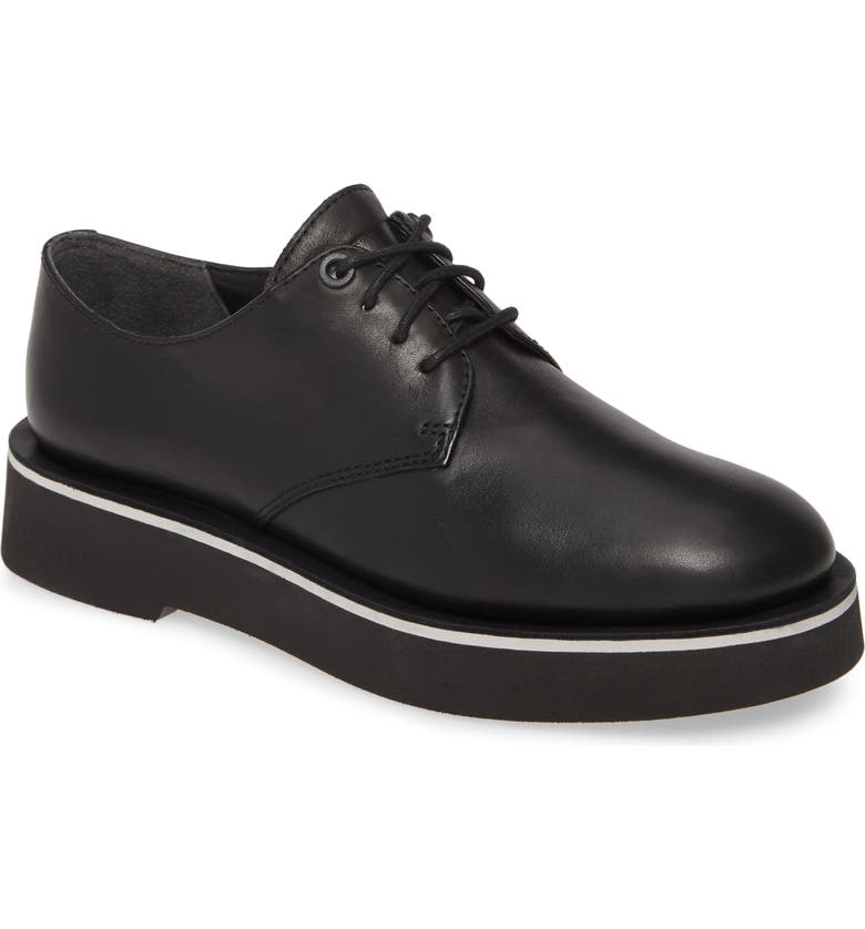 CAMPER Tyra Derby, Main, color, BLACK LEATHER