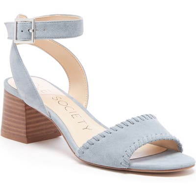 Sole Society Sylie Ankle Strap Sandal- Blue