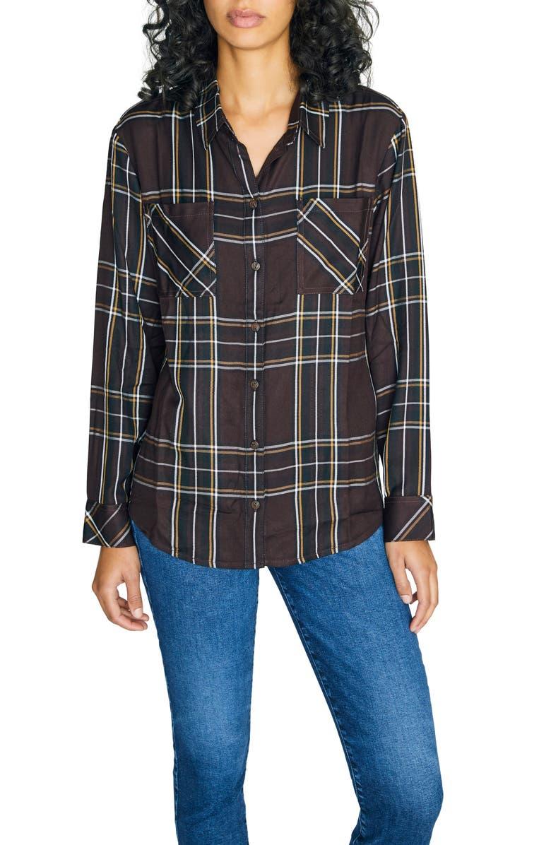 SANCTUARY New Generation Plaid Boyfriend Shirt, Main, color, NEW ROMANTIC PLAID