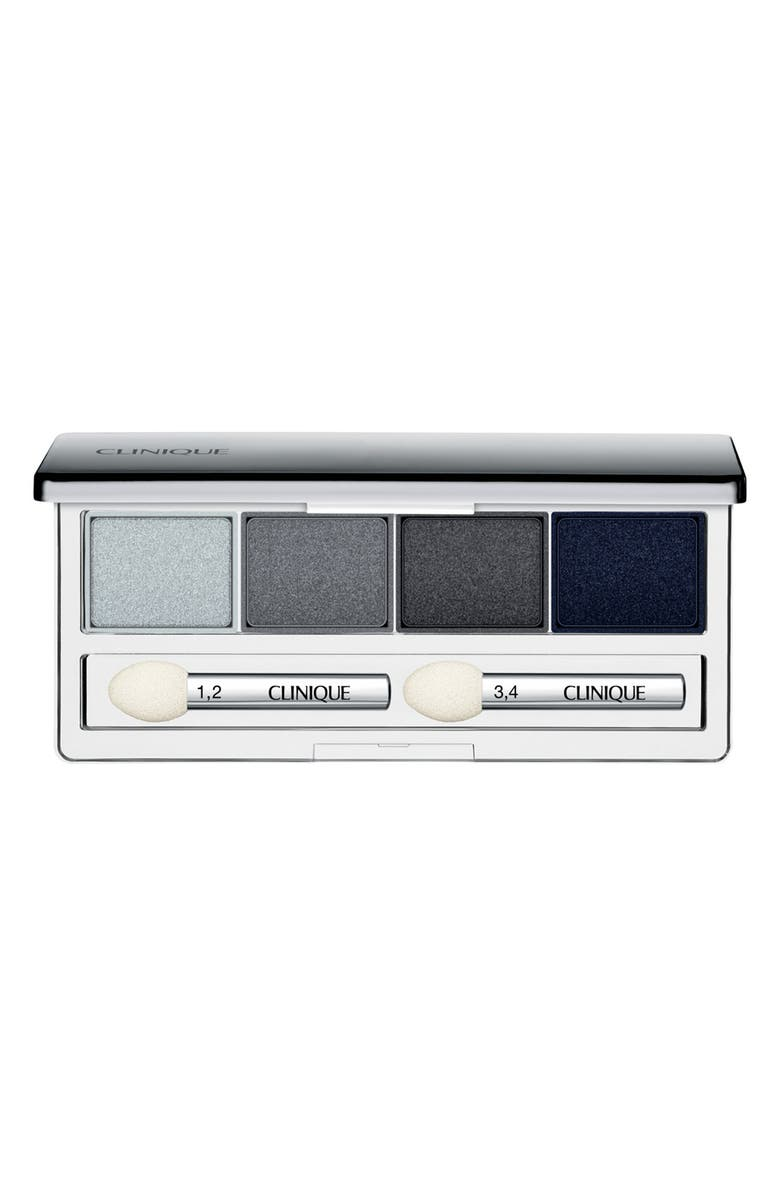 CLINIQUE All About Shadow Eyeshadow Quad, Main, color, SMOKE AND MIRRORS