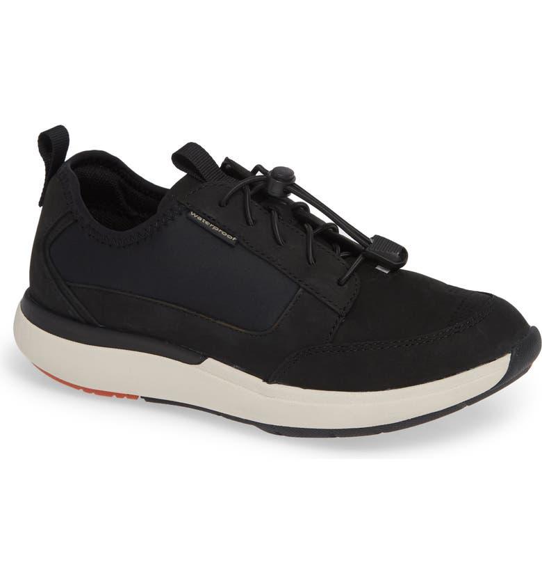CLARKS<SUP>®</SUP> Un Cruise Tie Sneaker, Main, color, BLACK NUBUCK