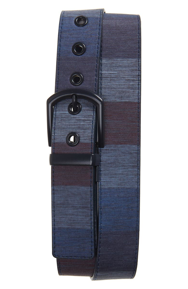 CUATER BY TRAVIS MATTHEW Torched Canvas Belt, Main, color, MOOD INDIGO