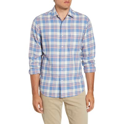 Faherty Everyday Regular Fit Button-Up Plaid Shirt, Blue