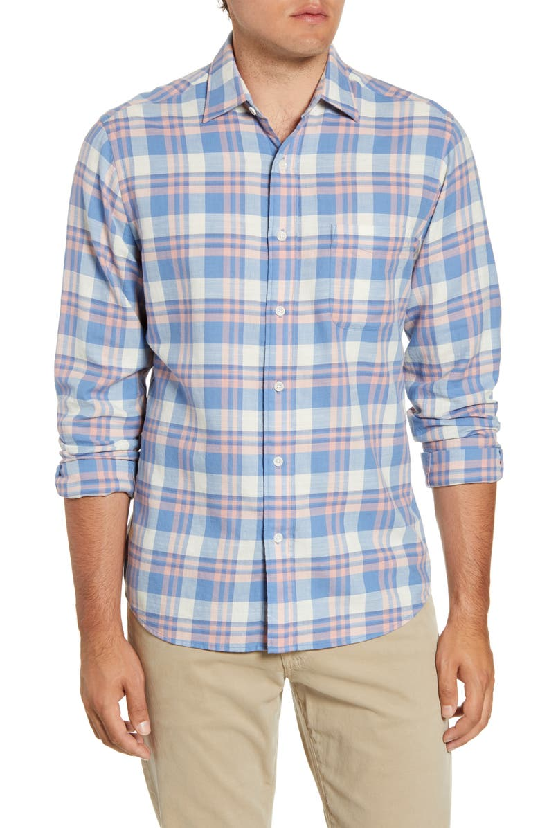 FAHERTY Everyday Regular Fit Button-Up Plaid Shirt, Main, color, SUNRISE PLAID