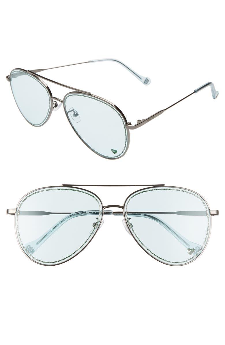 ANNA SUI Aviator Sunglasses, Main, color, 400