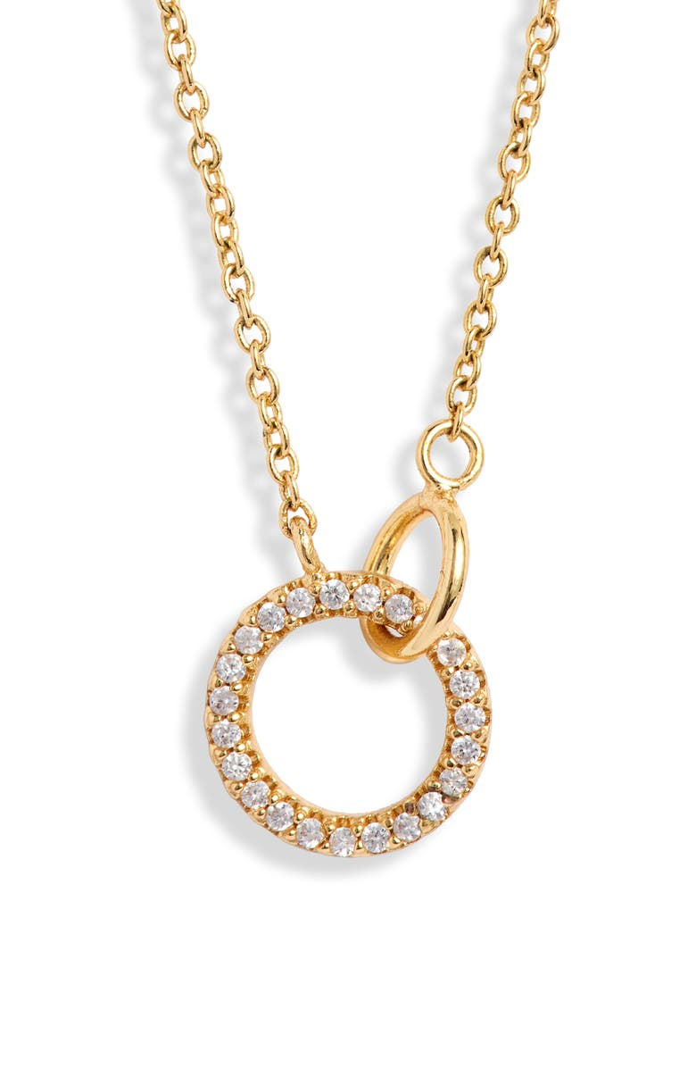 GORJANA Balboa Shimmer Interlocking Circle Pendant Necklace, Main, color, GOLD