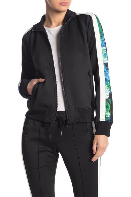 Image of PAM AND GELA Sophia Floral Stripe Zip Track Jacket