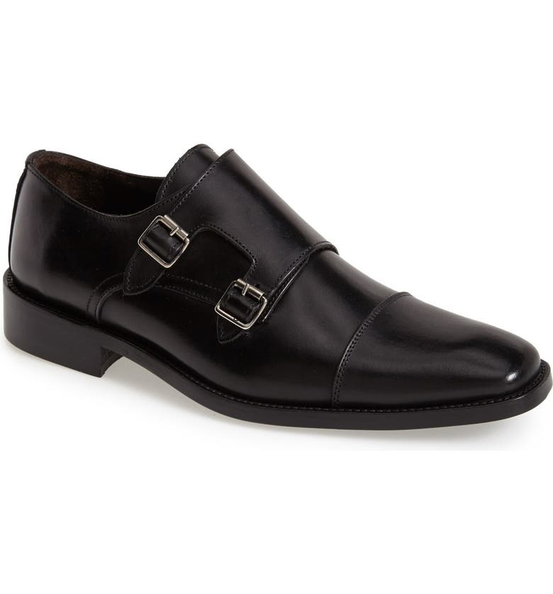 TO BOOT NEW YORK 'Brooklyn' Double Monk Strap Shoe, Main, color, 001