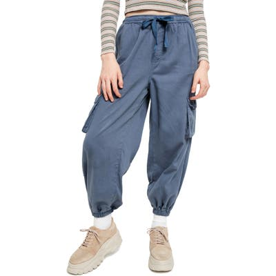 Bdg Urban Outfitters Raff Elastic Cuff Cotton Cargo Pants, Blue