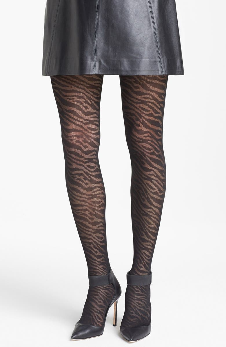 NORDSTROM 'Wild Animal' Tights, Main, color, 001