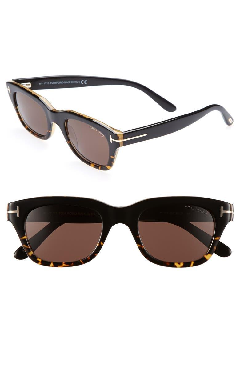 TOM FORD 'Snowdon' 50mm Sunglasses, Main, color, 200