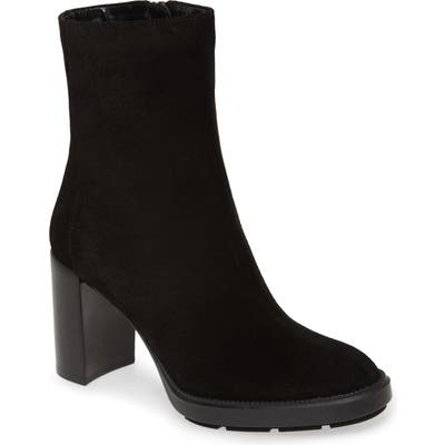 Aquatalia Ines Weatherproof Block Heel Bootie, Black