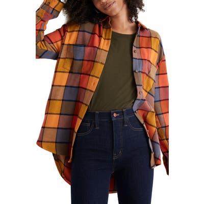 Madewell Emmy Plaid Flannel Sunday Shirt, Red
