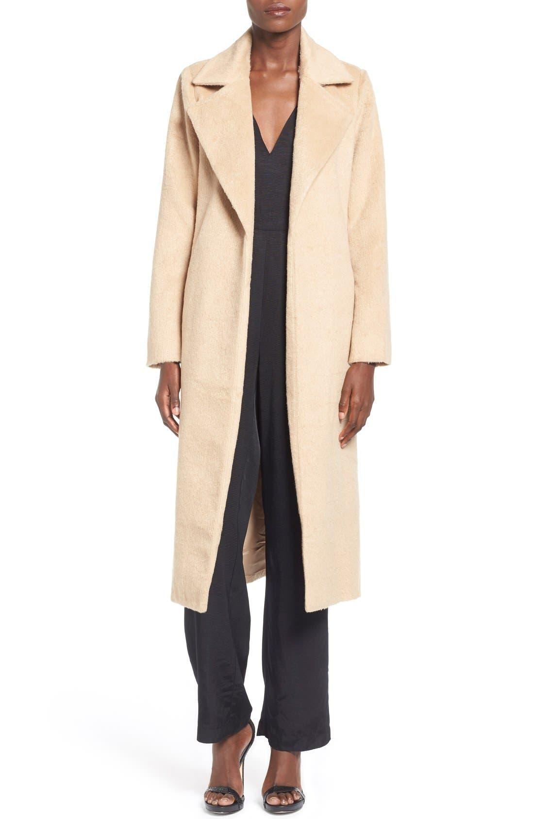 ,                             Belted Wrap Coat,                             Alternate thumbnail 3, color,                             250