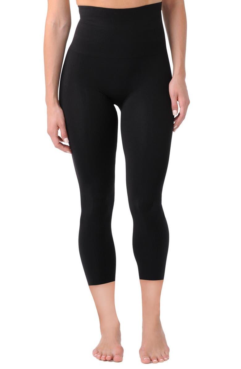BELLY BANDIT<SUP>®</SUP> Mother Tucker<sup>®</sup> Compression Capri Leggings, Main, color, BLACK