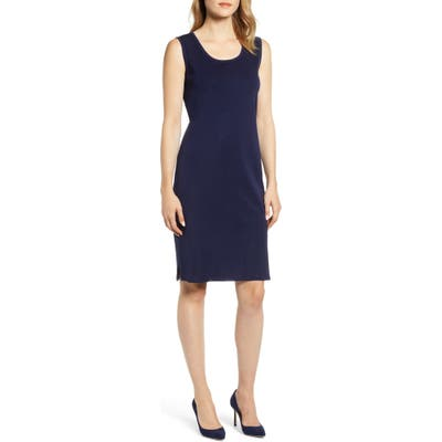 Ming Wang Knit Tank Dress, Blue