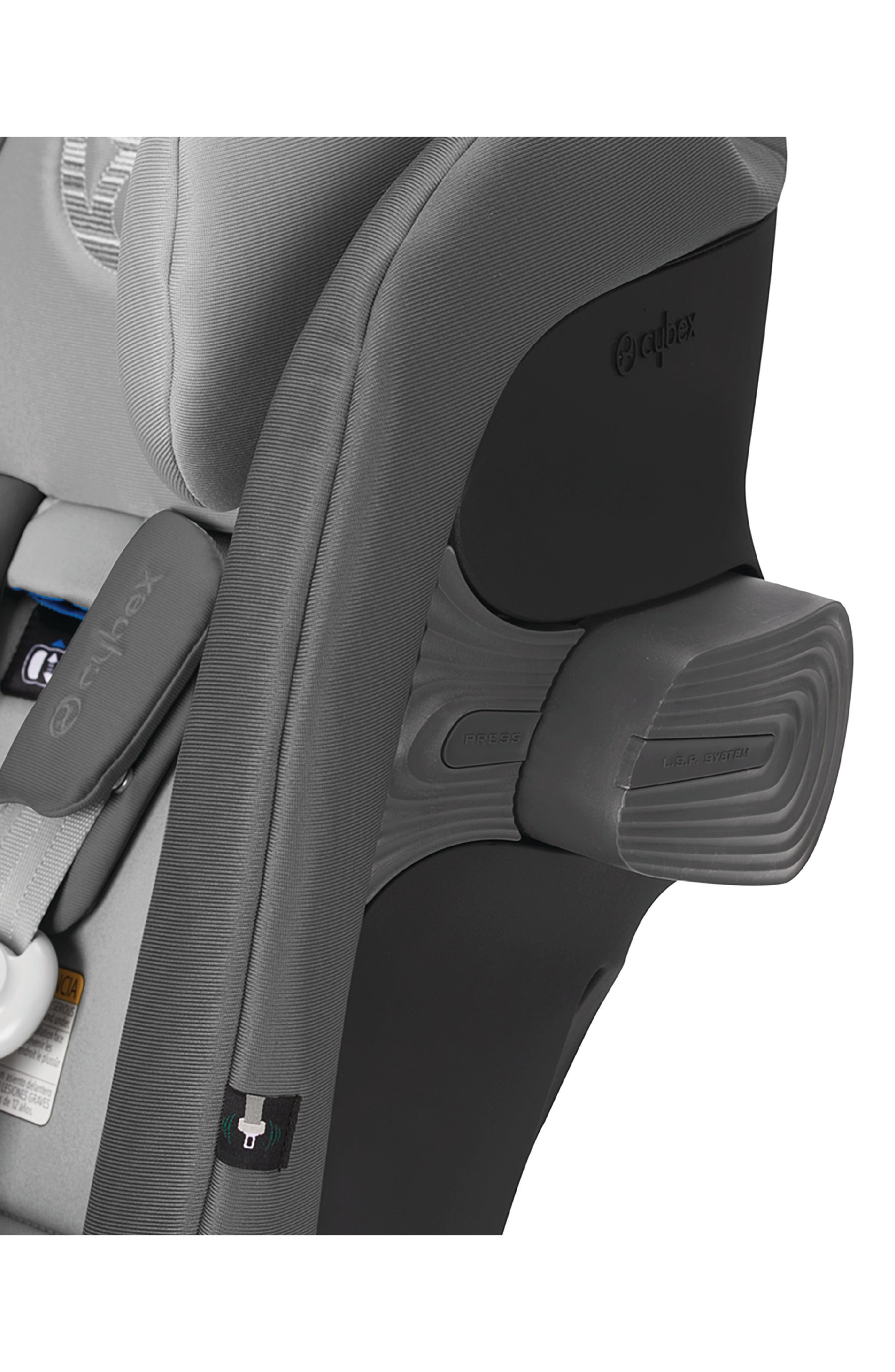 ,                             Eternis S SensorSafe<sup>™</sup> All-in-One Car Seat,                             Alternate thumbnail 8, color,                             BLACK/ GREY