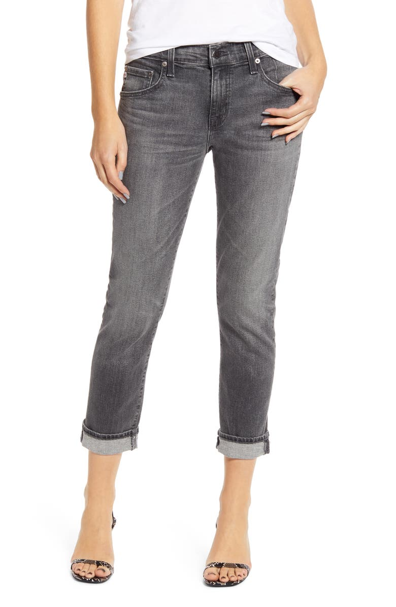 AG The Ex-Boyfriend Ankle Slim Jeans, Main, color, 9 YEARS PROFOUND