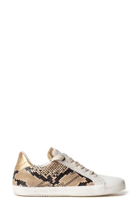 ZADIG & VOLTAIRE Sneakers USED WILD SNAKE EMBOSSED SNEAKER