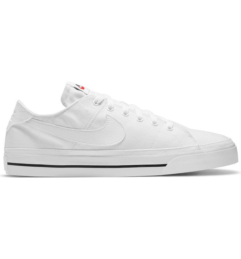 NIKE Court Legacy Sneaker, Main, color, 100 WHITE/WHITE