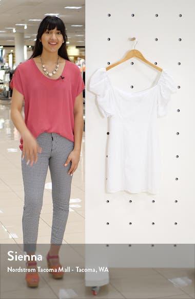Heidi Puff Shoulder Cotton Minidress, sales video thumbnail