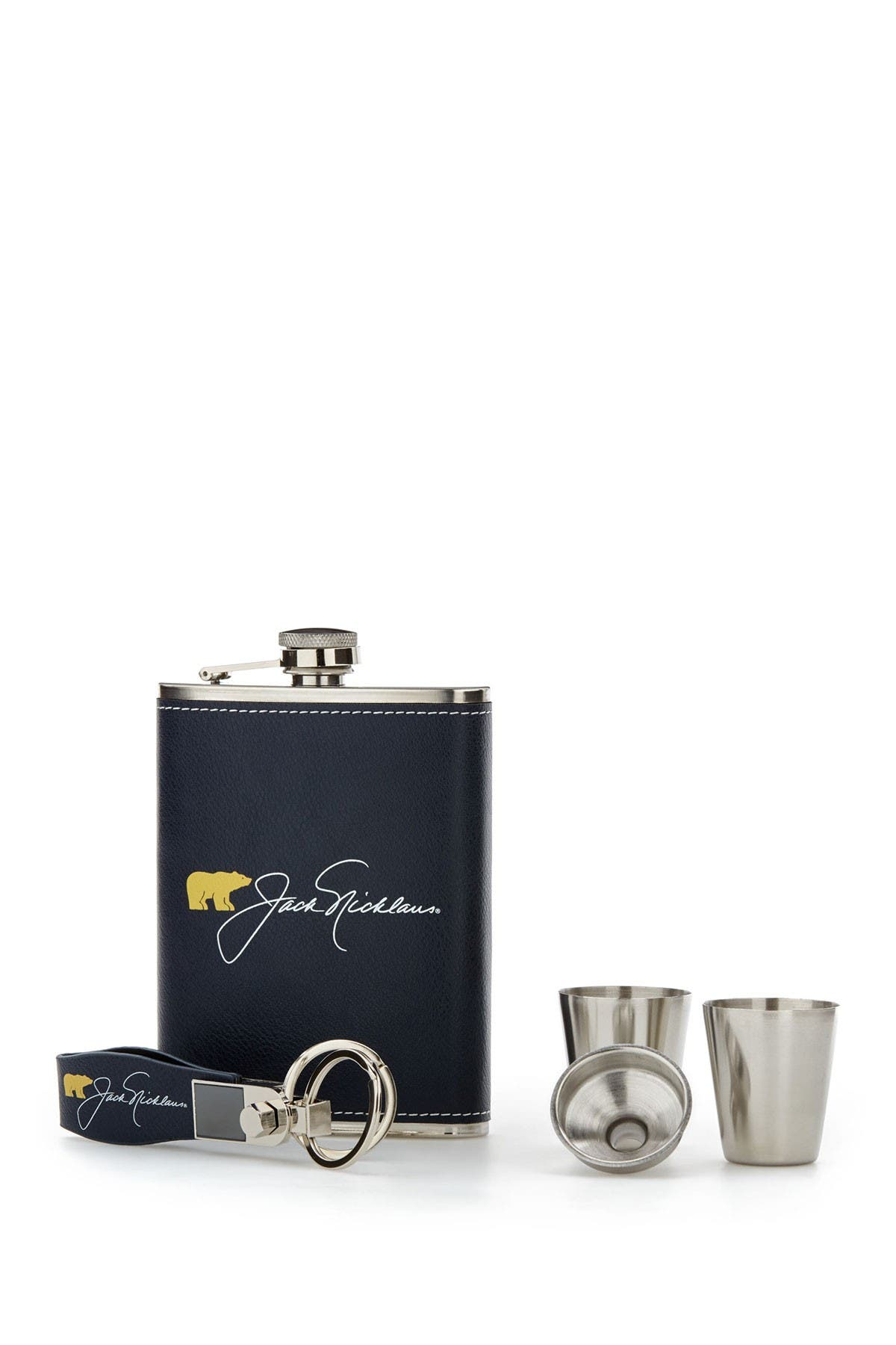 Image of Jack Nicklaus Flask & Keychain Gift Set