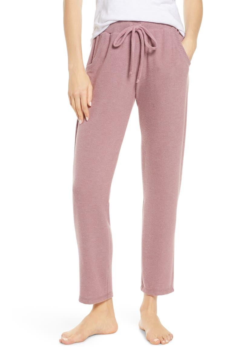 PROJECT SOCIAL T Ankle Lounge Pants, Main, color, DK LAVENDER