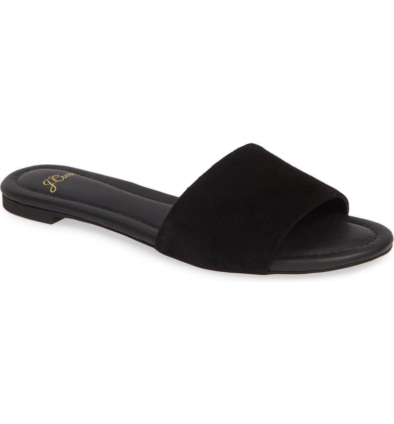 J.CREW Cora Suede Slide Sandal, Main, color, 001