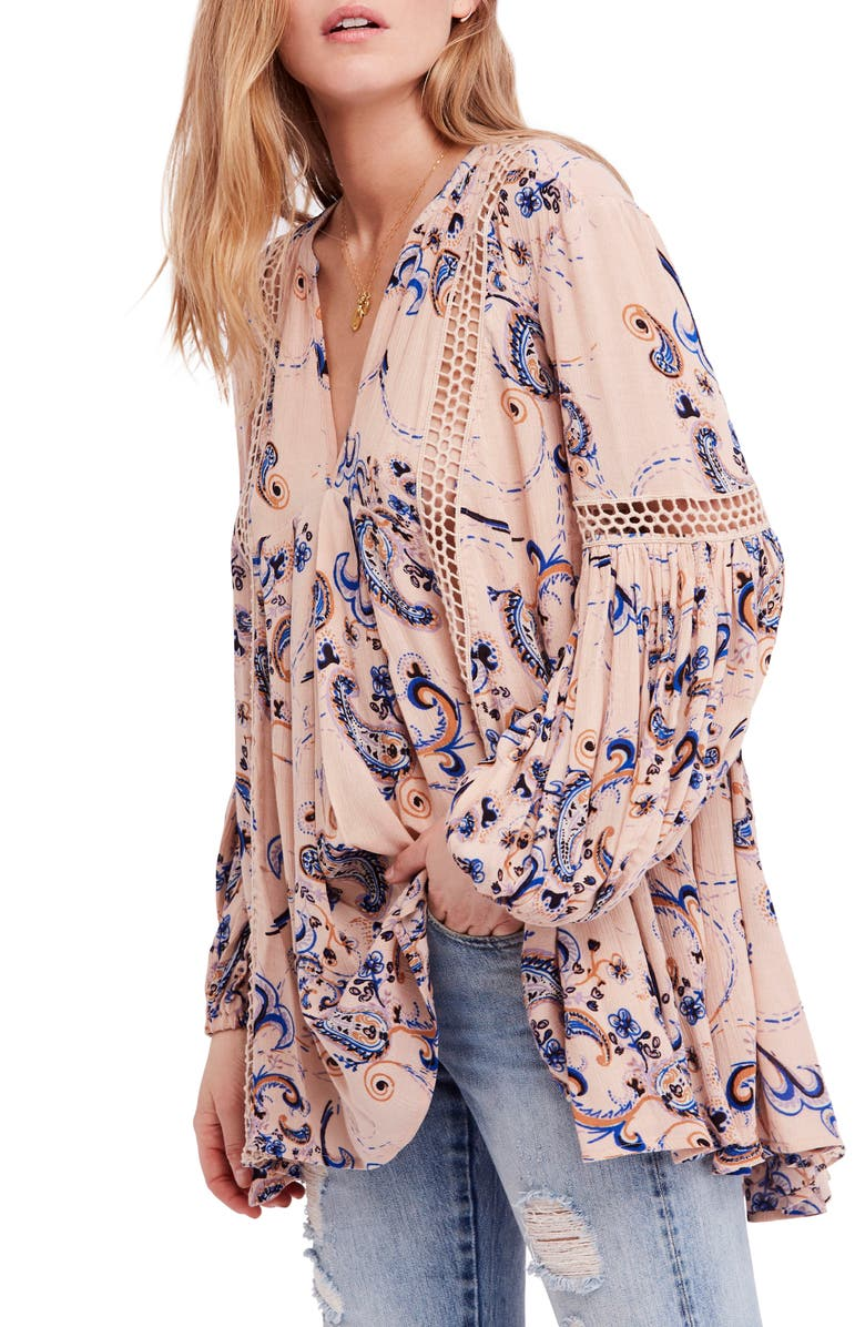 FREE PEOPLE Just the Two of Us Floral Tunic, Main, color, 533